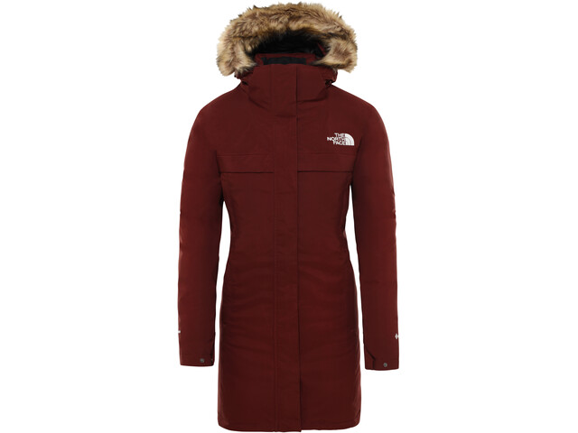 The North Face Cagoule Parka Dame sequoia red